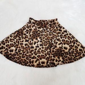 Fashion Magazine Leopard Mini Skirt Aline Skater S